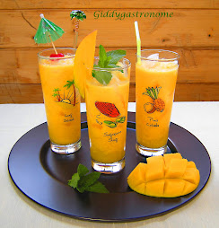 My version of a mango lassi: This is iced! Click on picture