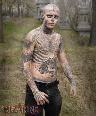 Zombie Tattoo Man 57