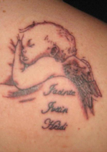 Baby Boy Angel Tattoo