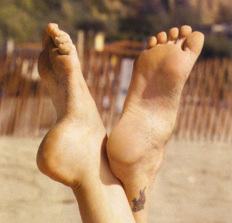 charlize theron  foot pics