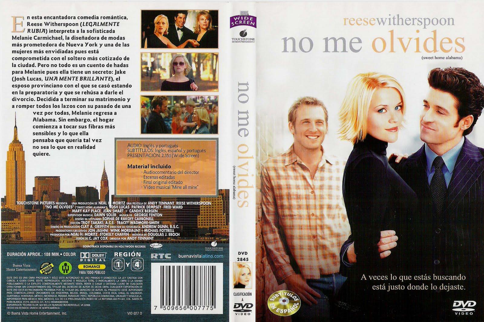 Peliculas En Dvd: No Me Olvides