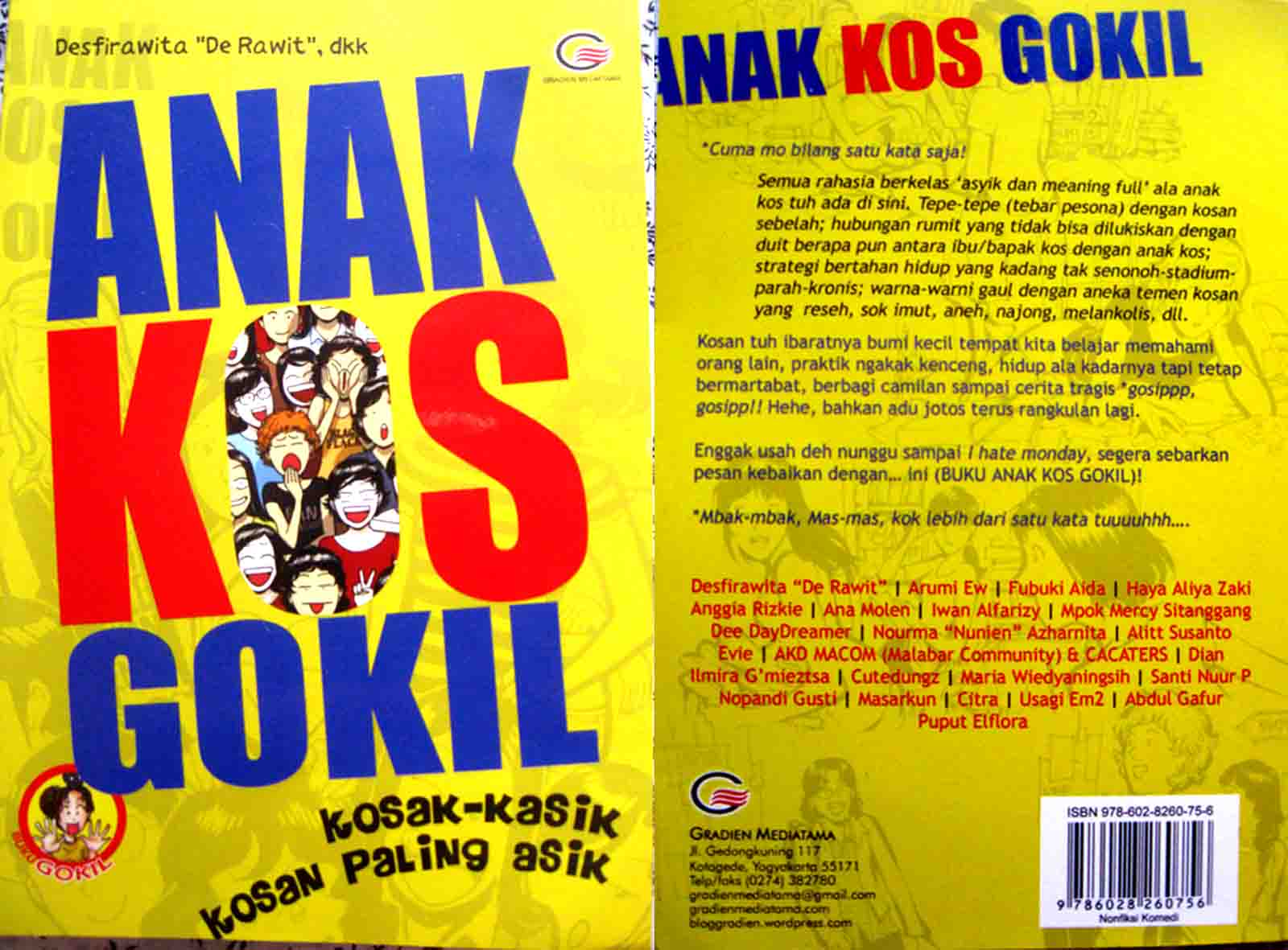 ARUMIS STORIES Telah Terbit Lagi Buku Antologiku ANAK KOS GOKIL