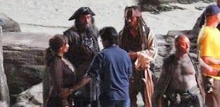 Primera imagen de Ian McShane como Barbanegra en Piratas del Caribe