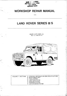 Workshop Repair Manual for Land Rover Series III S