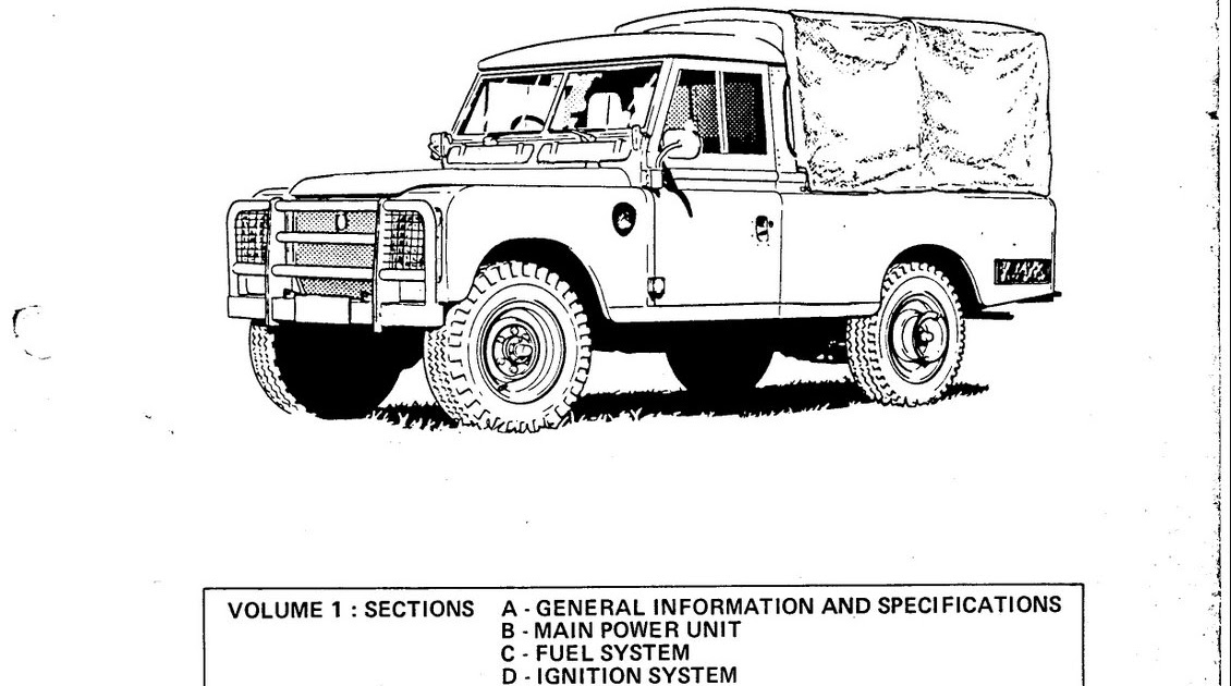 ZONAMOBILINDO: Workshop Repair Manual for Land Rover
