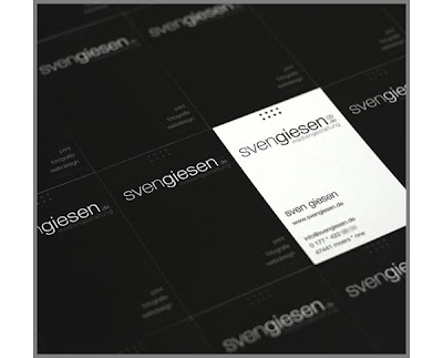 Beautiful Black White Business Cards