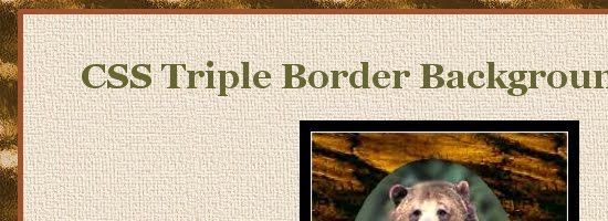 CSS Triple Border Background