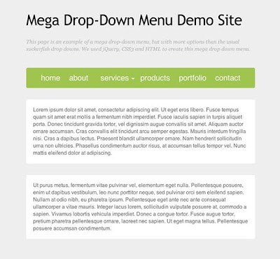 How to Make a Mega Drop-Down Menu