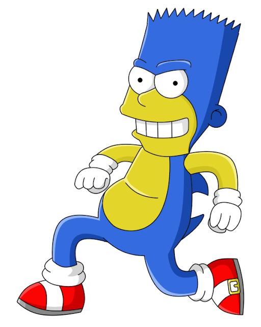 Bart as Sonic the Hedgehog