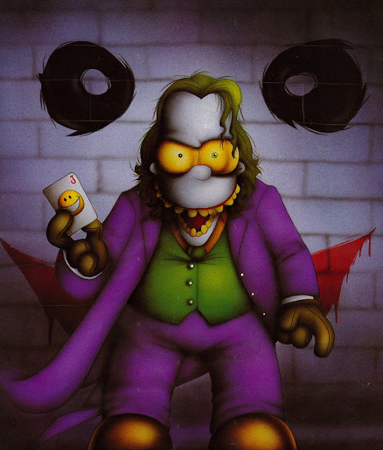 Homer Simpson as the Joker