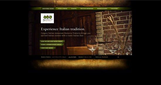 Bonterra Trattoria portfolio design