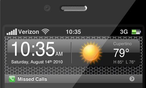 Apple iPhone 4G .PSD