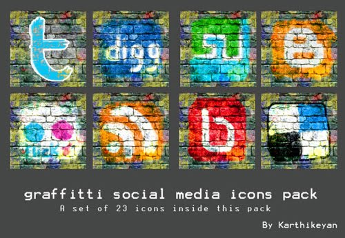 GRAFFITI SOCIAL MEDIA ICON PACK