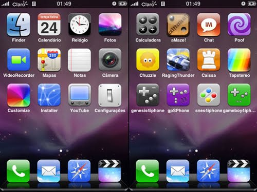 MAC OS X and iPhone Inspired Icon Sets