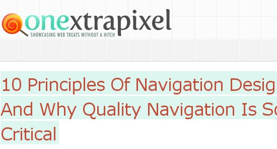 Principles Of Navigation Design And Why Quality Navigation Is So Critical