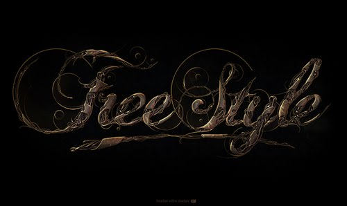 free style typography