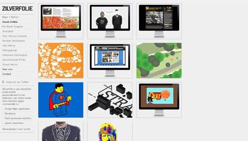 Zilverfolie web design