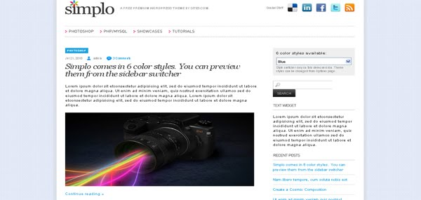 Simplo WordPress Theme