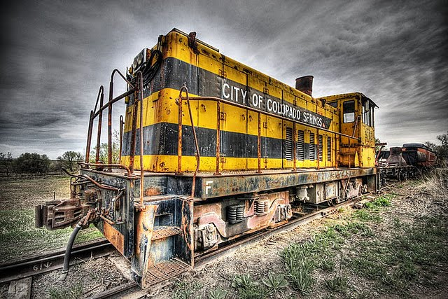 The Yellow Train Engine From Colorado Springs