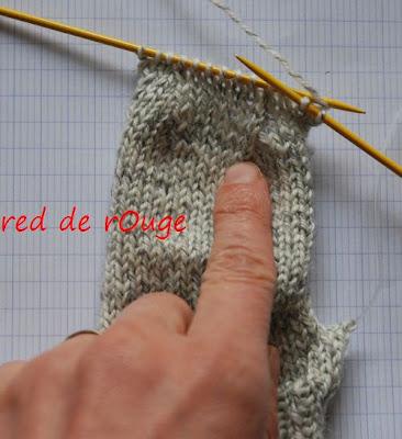 tricoter 4 mailles ensemble
