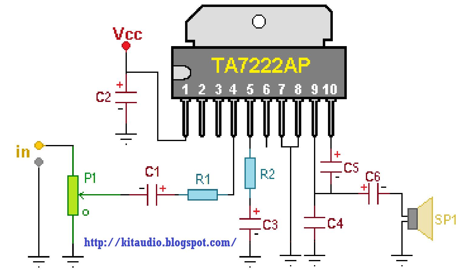 Soft Wiring  80 Watt Amplifier Circuit Diagram
