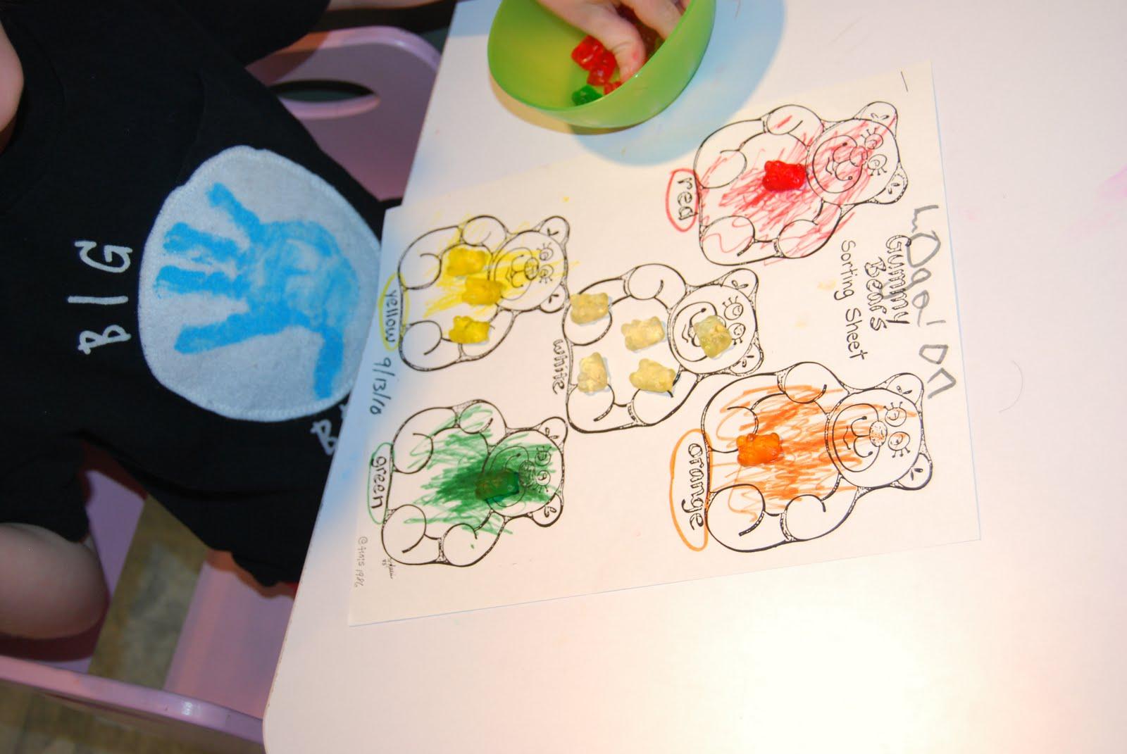 Gummy Bear Graphing Printable