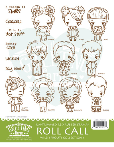 Roll call kit the greeting farm cling mount rubber stamp wild images copyright the greeting farm llc samples made by design team members m4hsunfo