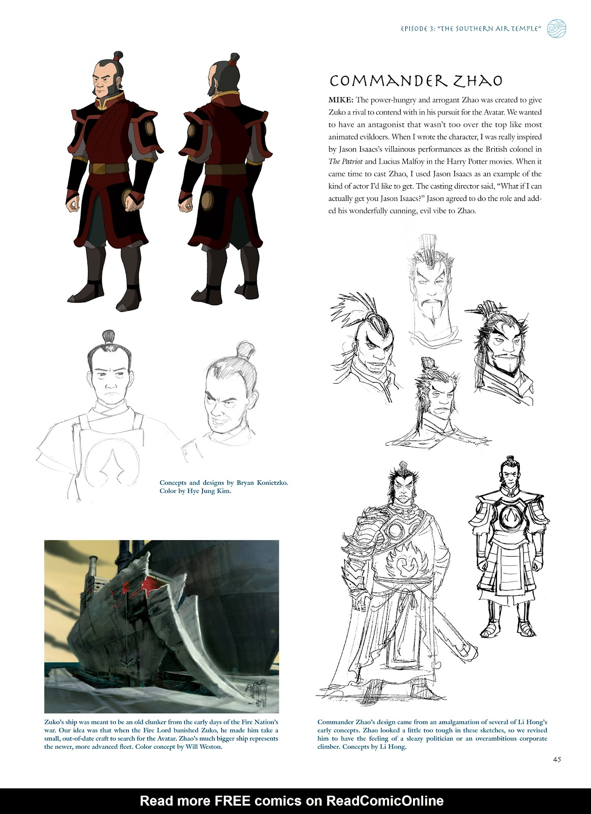 Read online Avatar: The Last Airbender - The Art of the Animated Series comic -  Issue # TPB (Part 1) - 46