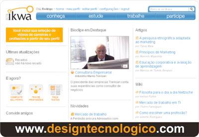 Canal interativo cursos profissões