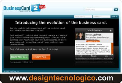 cartão visitas internet