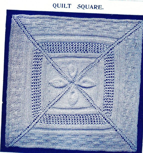 Needlework inspiration: Knitted leaf & lace squares: some ...