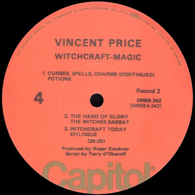 Soundological Investimigations Vincent Price Witchcraft