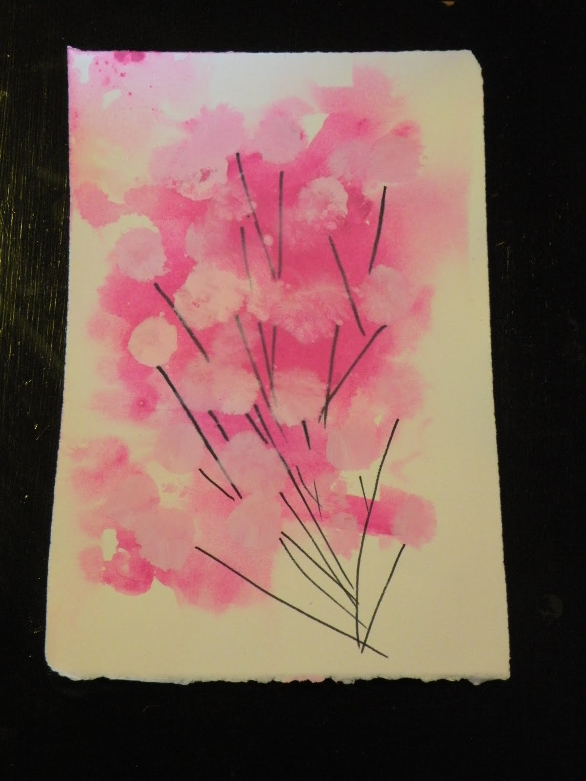 Toddler Approved Spring Blossom Painting