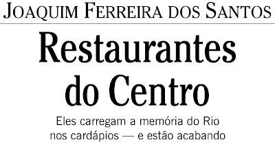 crônica publicada no jornal O GLOBO de 19 de novembro de 2007