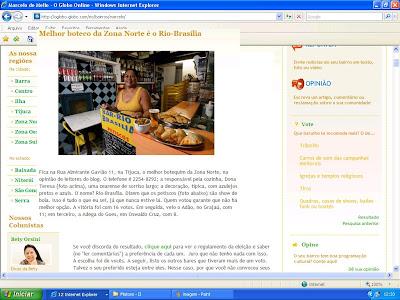 publicado em 18 de setembro de 2008 no blog BAIRROS.COM, do Marcelo de Mello, hospedado no GLOBO ON LINE