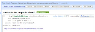 e-mail enviado em 21 de agosto de 2009 para a coluna GENTE BOA de O GLOBO