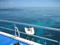 Boat on the Great Barrier Reef in Australia