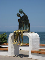 Sculpture by the waterfront in Puerto Vallarta Mexico