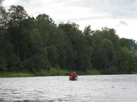 Canoeing on the Gauja River in Latvia