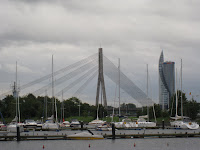 Waterfront in Riga Latvia
