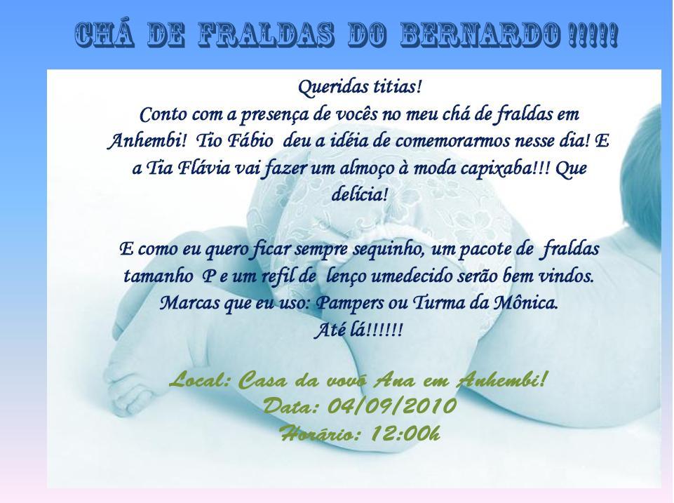 Mensagem De Convite De Cha De Fralda: Como Fazer Um Chá De Fraldas