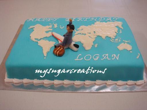 My Sugar Creations 001943746 M World Map Cake