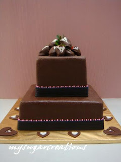 square chocolate wedding cakes my sugar creations 001943746 m chocolate fondant 20360