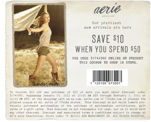 Canadian Daily Deals: Aerie: $10 Off $50 Purchase ...