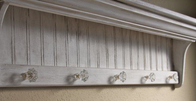 The Painted Paisley Beadboard Shelf Glazed Antique White