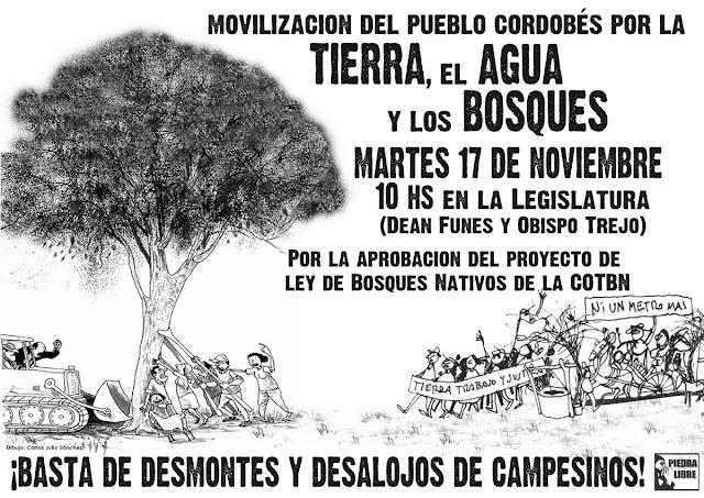 Resultado de imagen para marchas en favor de la ley de bosques en cordoba
