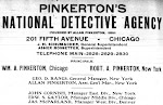 WANTED! BY THE PINKERTON NAT. DETECTIVE  AGENCY