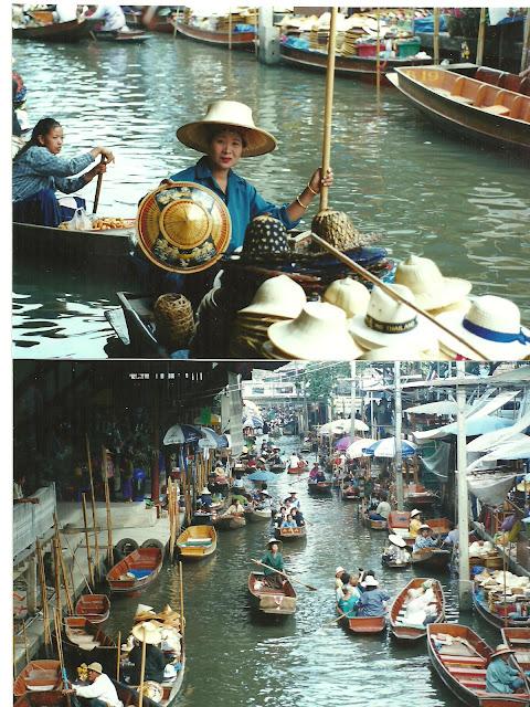 השוק הצף בנקוק תאילנד