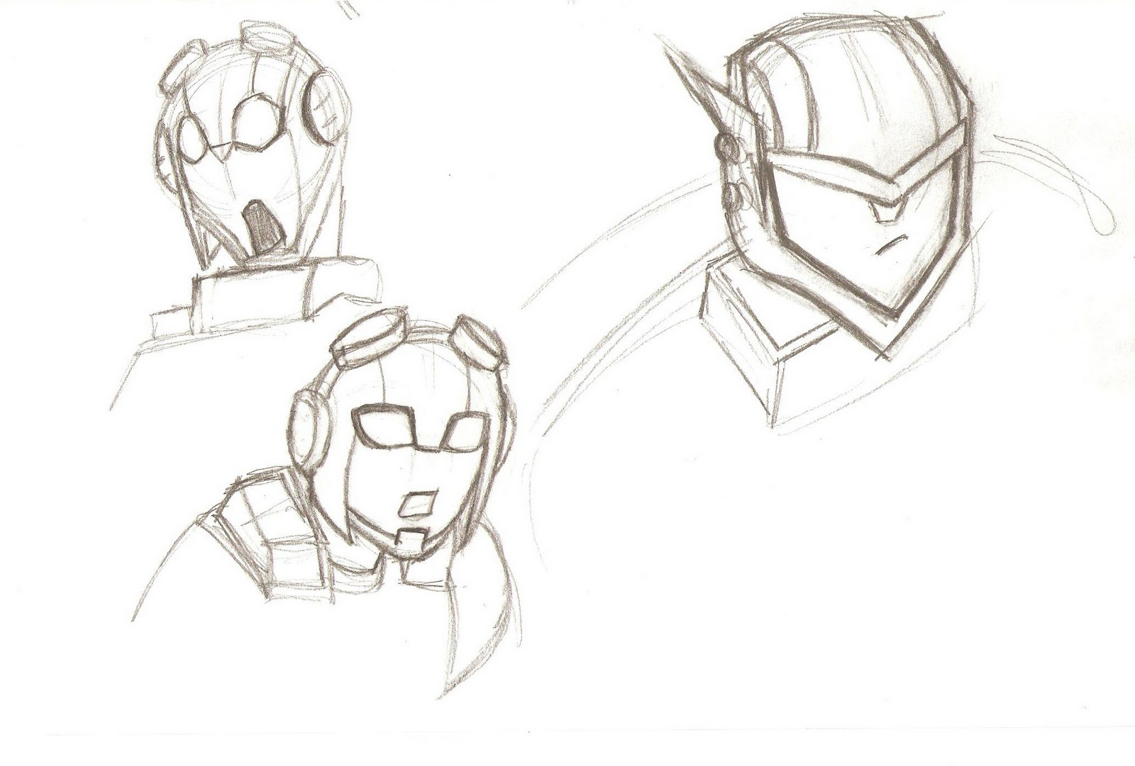 Work In Progress: Jetfire and Jetstorm sketch 1