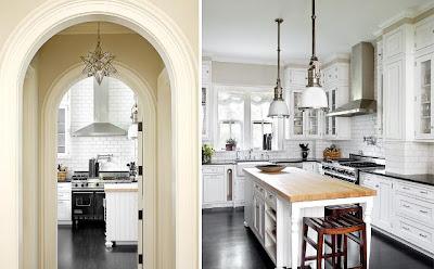White Subway Tile Kitchen Backsplash Grey Grout Marble Counters